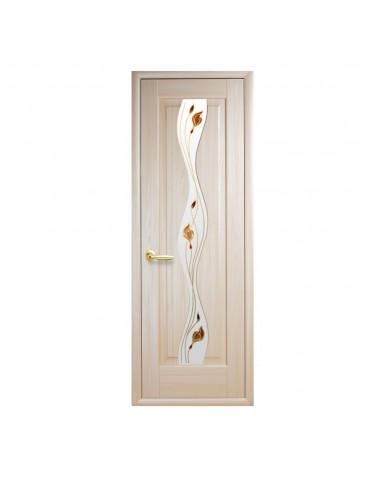 Дверное полотно Волна Р1 ясень