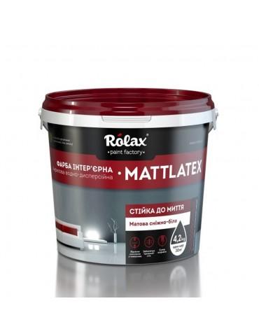 Краска стойкая к мытью Rolax Ролакс Акрил Супер (Acryl Super) Mattlatex 14кг