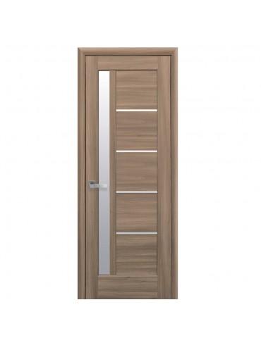 Дверное полотно Грета дуб золотой со стеклом сатин