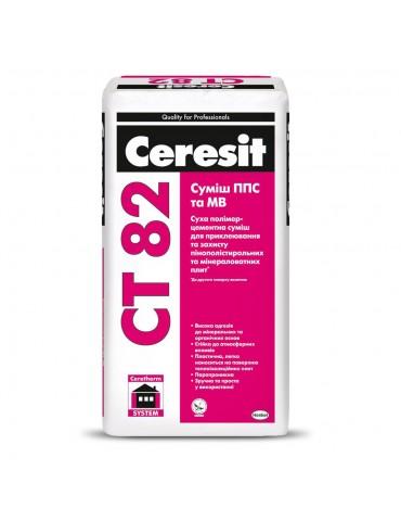 Клей для пенопласта и минеральных плит Ceresit CT 82 25кг