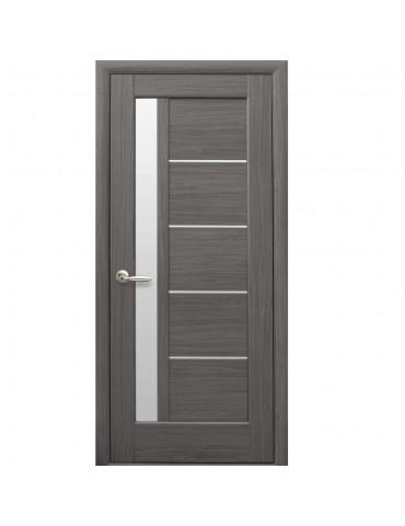 Дверное полотно Грета Grey со стеклом сатин