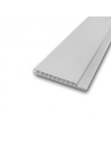 ПВХ Пластикова панель для облицювання Вагонка белая 100x8x6000мм
