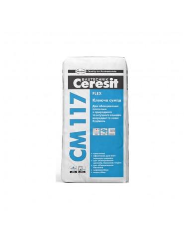 Клей для облицовки плиткой с натурального и искуственного камня Ceresit CМ-117 25кг