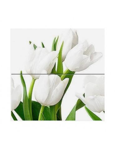 Кафель керамическая плитка Атем Ялта белая 20x50см