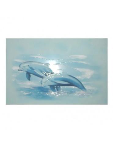 Кафель керамическая плитка Лазурь дельфин 25x35см