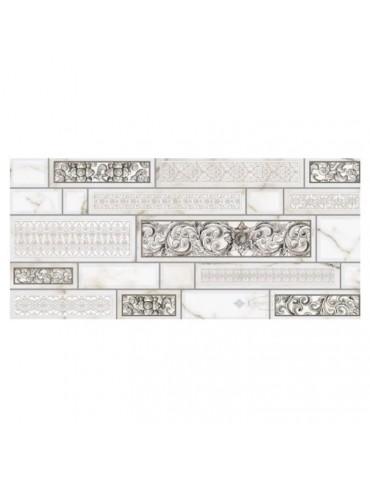 Кафель керамическая плитка InterCerama Плаза белая декор 23x50см