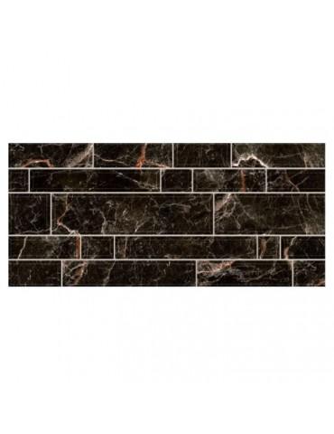 Кафель керамическая плитка InterCerama Плаза черная 23x50см