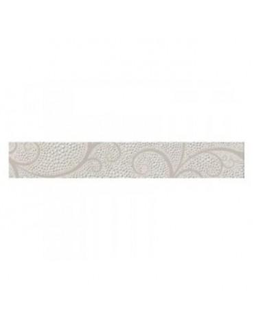 Кафель керамическая плитка фриз Капри жемчуг белый 5,4x35см