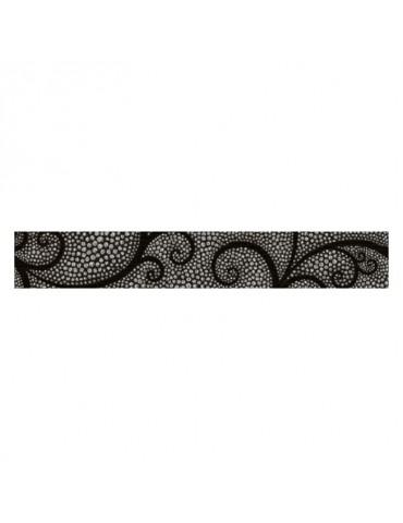Кафель керамическая плитка фриз Капри жемчуг черный 5,4x35см