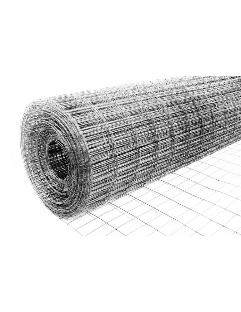 Сетка сварная оцинкованная ячейка 25*12.5*0.7мм 1м